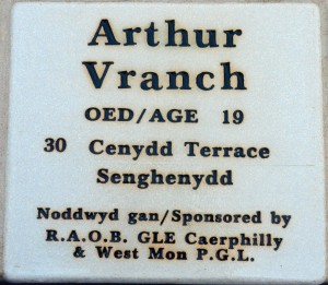 Plaque Arthur Vranch